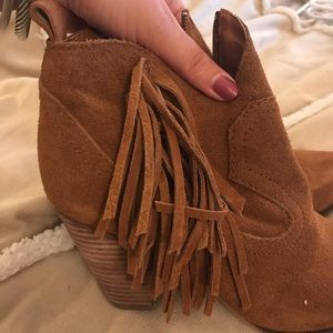 Steve Madden Booties with Fringe